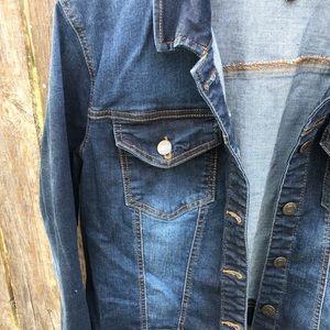d7c89767de68 Wax Jean Jackets & Coats - Plus Size Dark Wash Wash Jean Denim Jacket ...